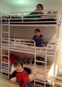 Triple tier bunk bed