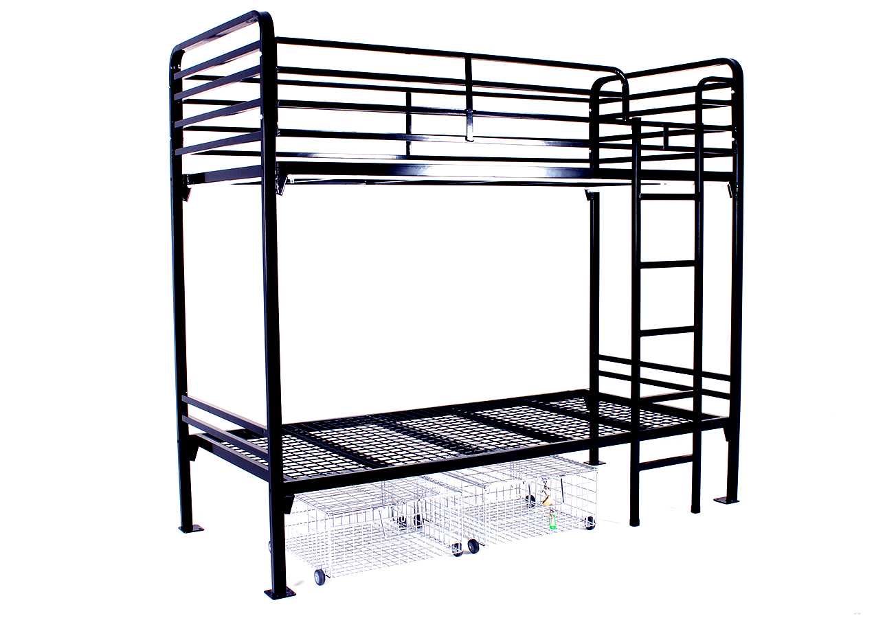 Contract Bunk Bed - Two Tier with under bed storage lockers. For Hostel Bunk Beds 101