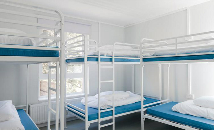 White Frame Metal Bunk Beds for Adults