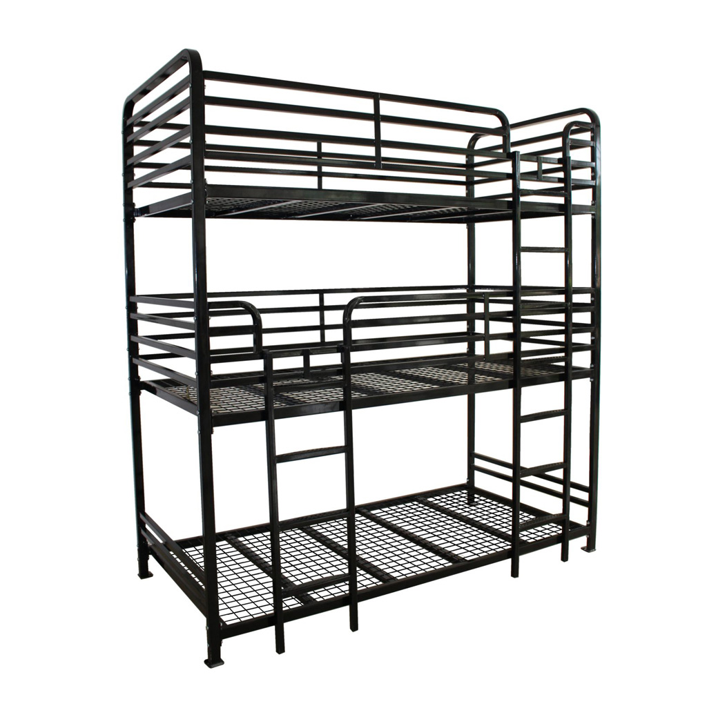 Dallas Metal Triple Bunk Bed Commercial Use Ess Universal