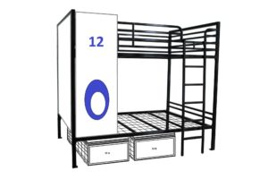 Heavy Duty Bunk Beds with Under Bed Storage Lockers