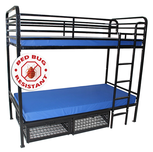 Heavy Duty Metal Bunk Beds (Bed Bug Resistant)