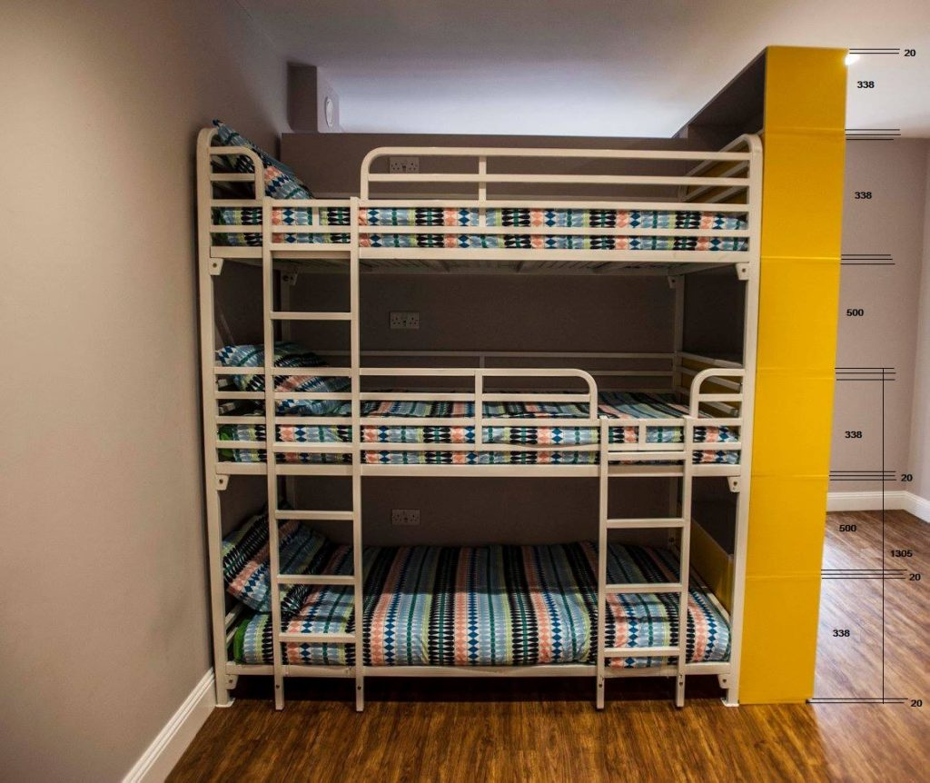 Client Installation of Triple Bunk Beds (Queen Size with Guardrails)