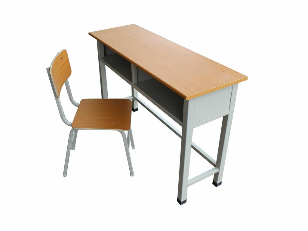 Metal Open Front School Desk