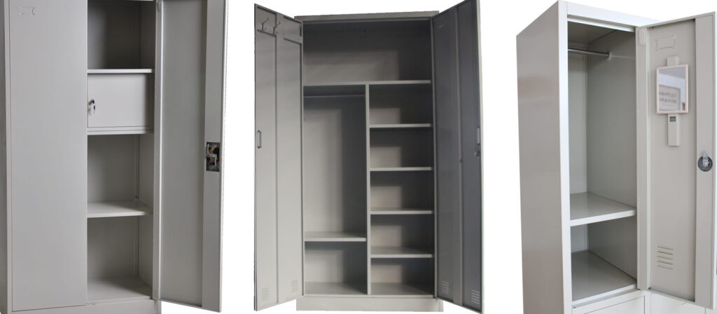 Metal Wardrobe Armoire