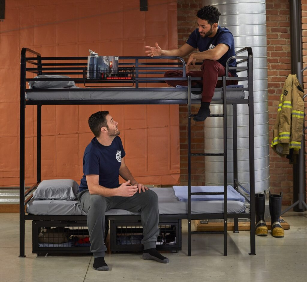 Firefighters on Bunk Bed